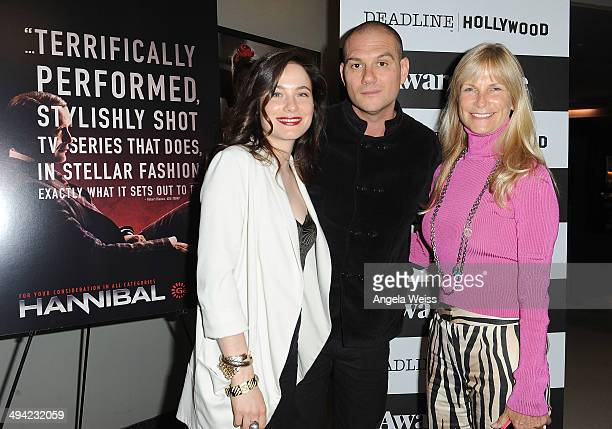 Actress Caroline Dhavernas moderator Dominic Patten and producer Martha De Laurentiis attend the Awardsline/Deadline screening of Gaumont Int'l...