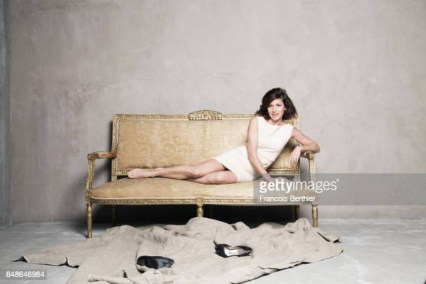 Actress Caroline Ducey is photographed for Self Assignment on November 17 2016 in Paris France