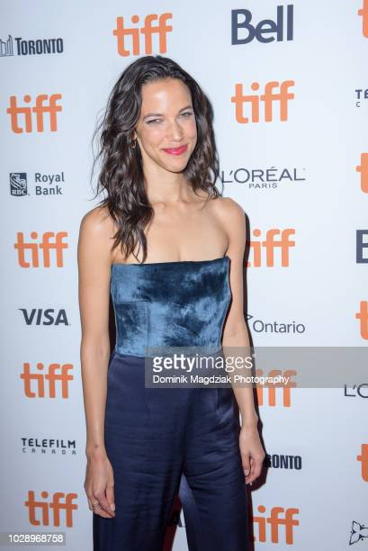 Actress Caroline Ford attends the Nekrotonic Midnight Madness Premiere during the Toronto International Film Festival at Ryerson Theatre on September...