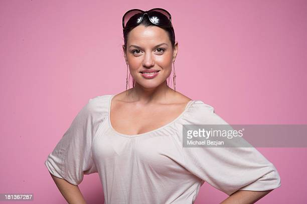 Actress Caroline Morahan poses for a portrait at the Mark Kearney Group Iced Out Luxury Emmy Suite on September 20 2013 in Los Angeles California