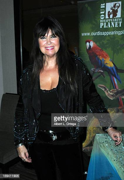 Actress Caroline Munro attends day 1 of The Hollywood Show held at Westin LAX on January 12 2013 in Hollywood California