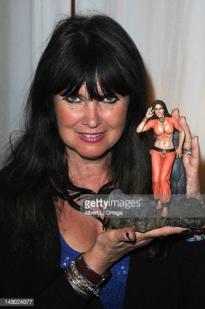 Actress Caroline Munro participates in the 2012 Monsterpalooza held at Burbank Airport Marriott on April 15 2012 in Burbank California