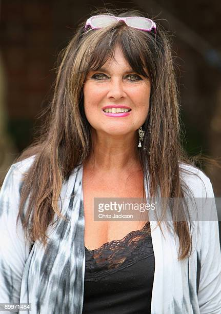 Actress Caroline Munro poses for a photograoh at the Marks and Spencer Abseil Event photocall at Kensington Roof Gardens on August 20 2009 in London...