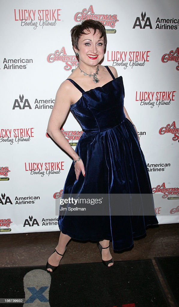 Actress Caroline O'Connor attends 'A Christmas Story: The Musical' Broadway opening night after party on November 19, 2012 in New York City.