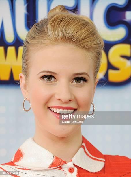 Actress Caroline Sunshine arrives at the 2013 Radio Disney Music Awards at Nokia Theatre LA Live on April 27 2013 in Los Angeles California
