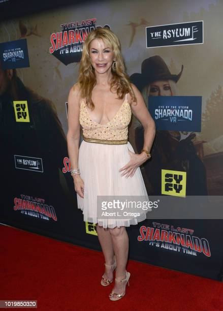 Actress Caroline Williams arrives for the Premiere Of The Asylum And Syfy's 'The Last Sharknado It's About Time' held at Cinemark Playa Vista on...