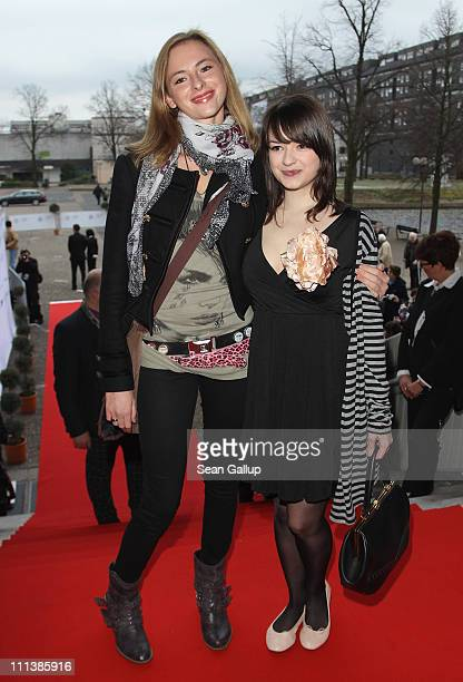 Actress Carolyn Genzkow and actress Michelle Barthel attend the Grimme Award 2011 on April 1 2011 in Marl Germany