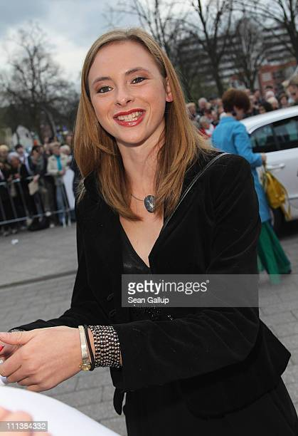 Actress Carolyn Genzkow arrives at the Grimme Award 2011 on April 1 2011 in Marl Germany