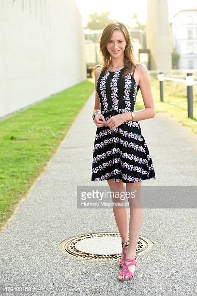 Actress Carolyn Genzkow attend the Foerderpreis HFF during the Munich Film Festival at on July 3 2015 in Munich Germany