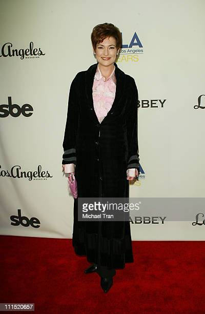 Actress Carolyn Hennesy arrives at the 7th Annual APLA Oscar viewing party held at The Abbey on February 24 2008 in West Hollywood California