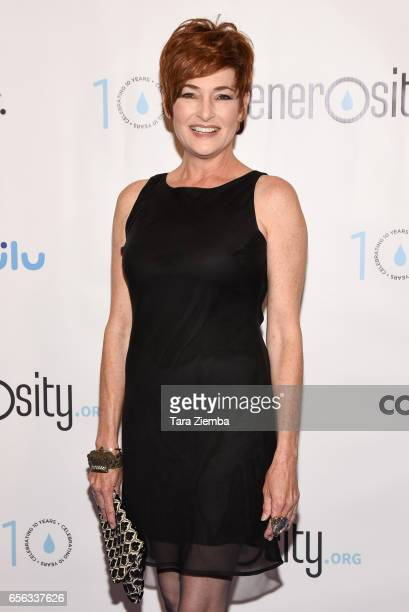 Actress Carolyn Hennesy attends a Generosityorg fundraiser for World Water Day at Montage Hotel on March 21 2017 in Beverly Hills California