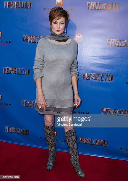Actress Carolyn Hennesy attends the Los Angeles premiere of Persecuted at ArcLight Hollywood on July 16 2014 in Hollywood California