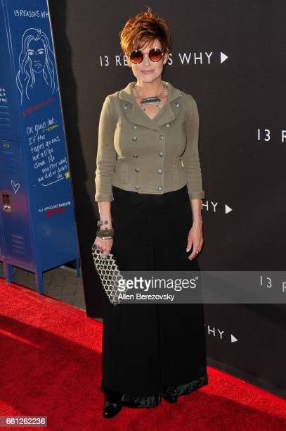 Actress Carolyn Hennesy attends the Premiere of Netflix's 13 Reasons Why at Paramount Pictures on March 30 2017 in Los Angeles California