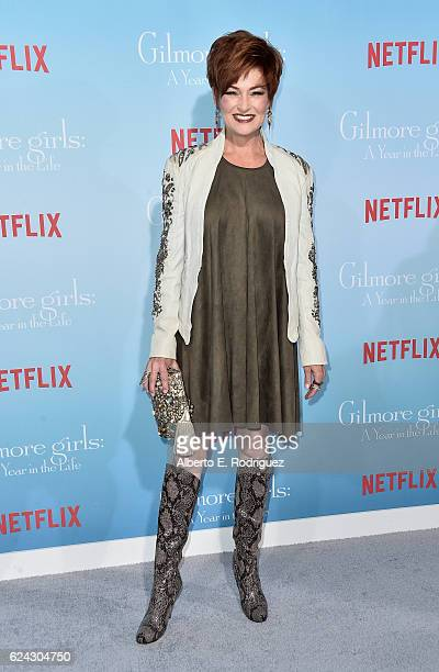 Actress Carolyn Hennesy attends the premiere of Netflix's Gilmore Girls A Year In The Life at the Regency Bruin Theatre on November 18 2016 in Los...