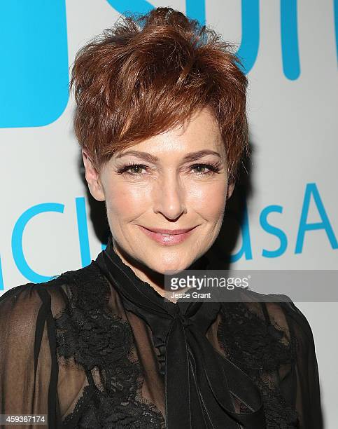 Actress Carolyn Hennesy attends the WishClouds Launch Party at Bootsy Bellows on November 20 2014 in West Hollywood California