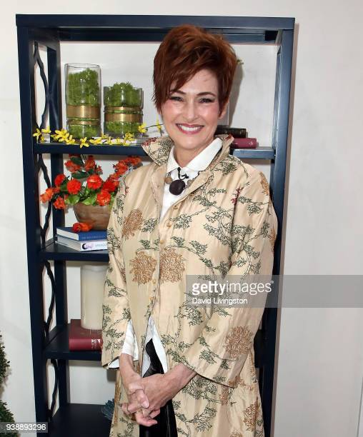 Actress Carolyn Hennesy visits Hallmark's Home Family at Universal Studios Hollywood on March 27 2018 in Universal City California