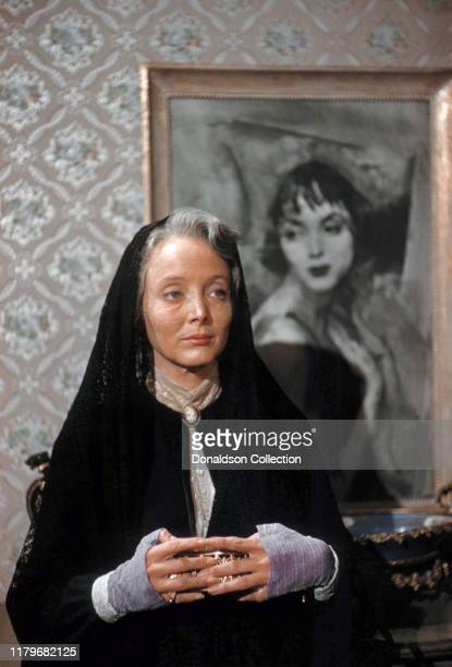 Actress Carolyn Jones in a scene from a movie in Los Angeles, California.