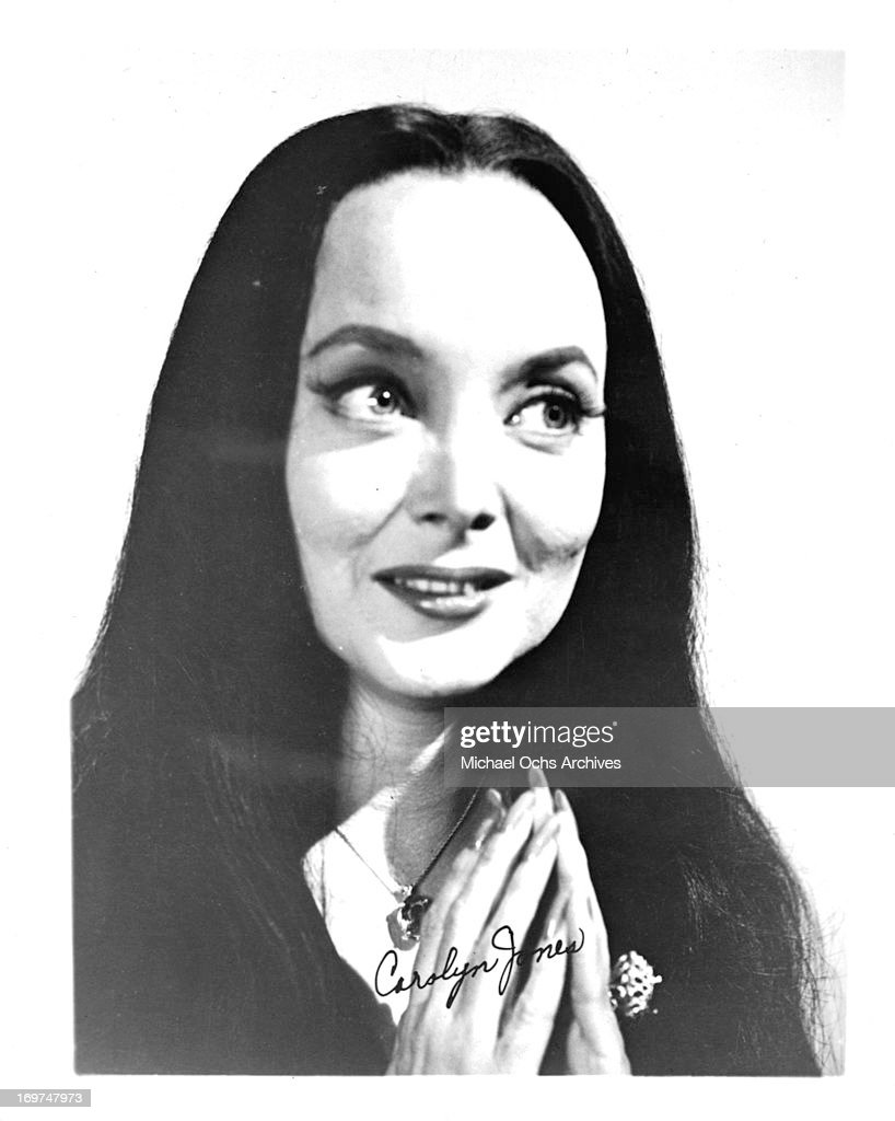 Actress Carolyn Jones poses for a portrait as Morticia Frump Addams in ' The Addams Family' in circa 1965.