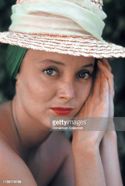 Actress Carolyn Jones poses for a portrait in 1959