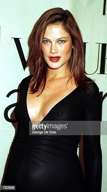 Actress Carolyn Murphy attends the 2000 VH1/Vogue Fashion Awards October 20 2000 at the Theatre at Madison Square Garden in New York City