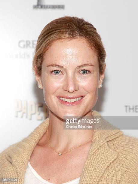 Actress Carolyn Murphy attends the Cinema Society with UGG Suffolk County Film Commission host a screening of 'Paper Man' at the Crosby Street Hotel...
