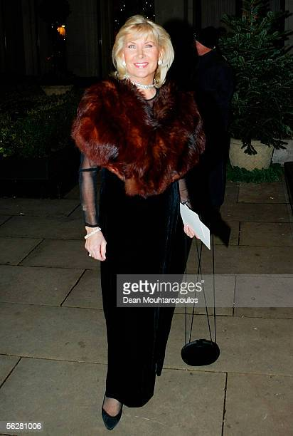 Actress Caron Gardner arrives at the Water Rats Annual Ball the showbiz charity ball raising funds for the GOWR Charities Fund at Grosvenor House on...