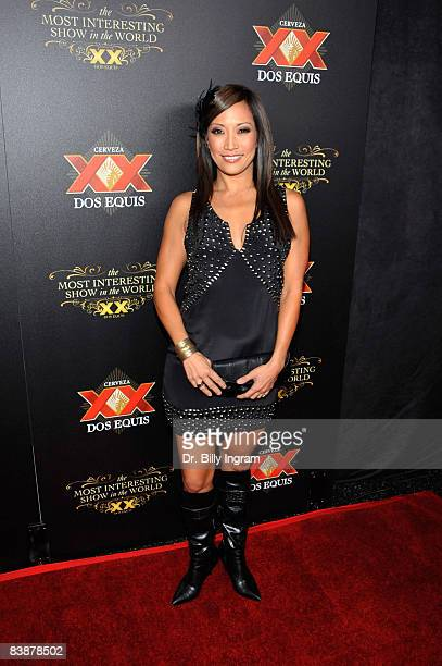 Actress Carrie Ann Inaba attends the Dos Equis' Upscale Offbeat Variety Show Hosted by Jim Rose at The Music Box at The Henry Fonda Theater on...