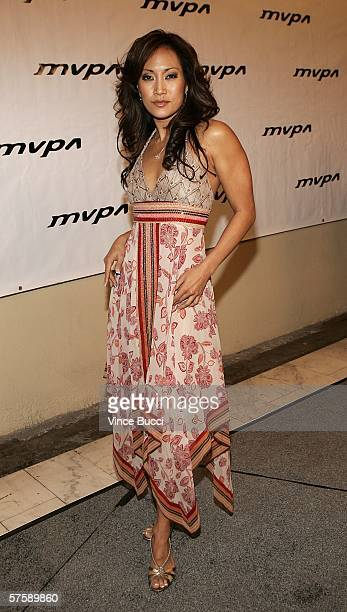 Actress Carrie Ann Inaba attends the Music Video Production Association's 15th Annual MVPA Awards at the Orpheum Theatre on May 11 2006 in Los...