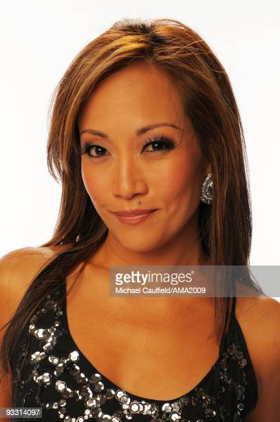 Actress Carrie Ann Inaba poses for a portrait at the 2009 American Music Awards at Nokia Theatre LA Live on November 22 2009 in Los Angeles California