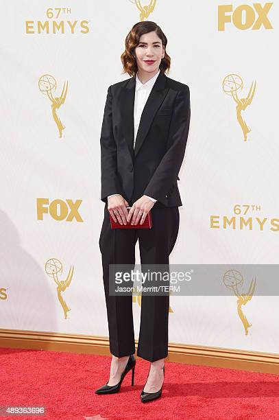 Actress Carrie Brownstein attends the 67th Annual Primetime Emmy Awards at Microsoft Theater on September 20 2015 in Los Angeles California