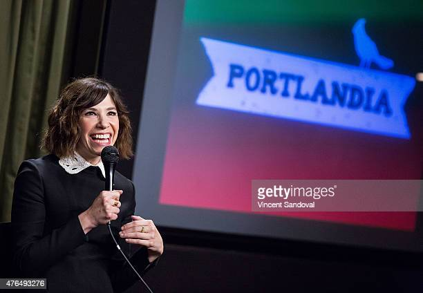 Actress Carrie Brownstein attends The SAG Foundation hosts Portlandia Los Angeles screening and QA at SAG Foundation Actors Center on June 9 2015 in...