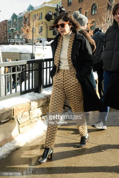 Actress Carrie Brownstein walks on Main Street on January 25, 2020 in Park City, Utah.