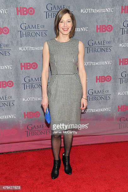 Actress Carrie Coon attends the Game Of Thrones Season 4 New York premiere at Avery Fisher Hall Lincoln Center on March 18 2014 in New York City