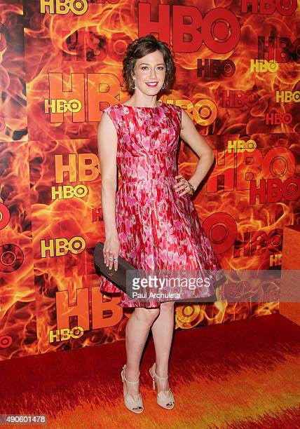 Actress Carrie Coon attends the HBO's Official 2015 Emmy After Party at The Plaza at the Pacific Design Center on September 20 2015 in Los Angeles...