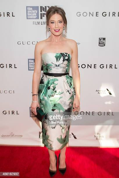 Actress Carrie Coon attends the Opening Night Gala Presentation And World Premiere Of 'Gone Girl' 52nd New York Film Festival at Alice Tully Hall on...