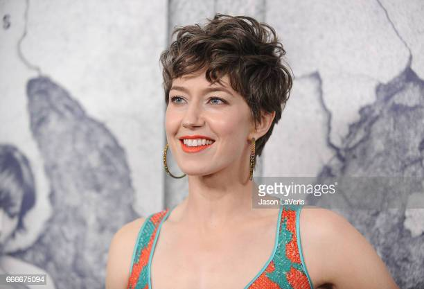 Actress Carrie Coon attends the season 3 premiere of The Leftovers at Avalon Hollywood on April 4 2017 in Los Angeles California