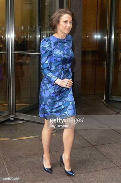 Actress Carrie Coon leaves the Sirius XM Studios on October 2 2014 in New York City