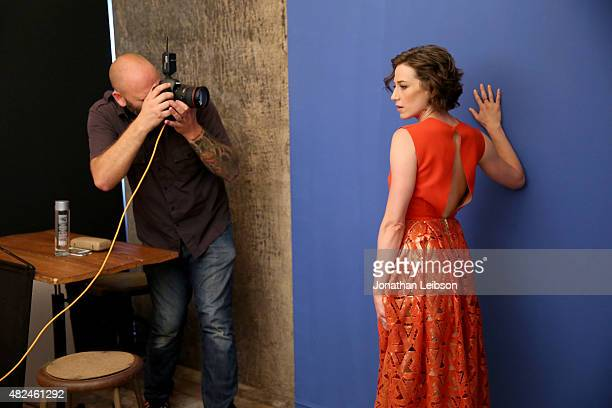 Actress Carrie Coon of HBO's 'The Leftovers' attends the Getty Images Portrait Studio powered by Samsung Galaxy at 2015 Summer TCA's at The Beverly...