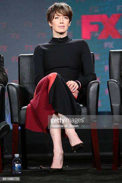 Actress Carrie Coon of the television show 'Fargo' speaks onstage during the FX portion of the 2017 Winter Television Critics Association Press Tour...