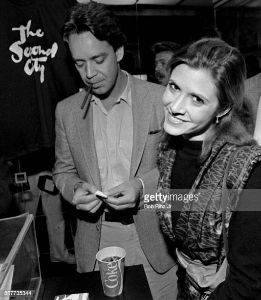 Actress Carrie Fisher attends a showing of 'The Second City' to raise funds for the John Belushi Scholarship Fund April 18 1983 in Los Angeles...