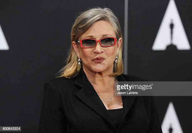 Actress Carrie Fisher attends the 7th annual Governors Awards at The Ray Dolby Ballroom at Hollywood Highland Center on November 14 2015 in Hollywood...