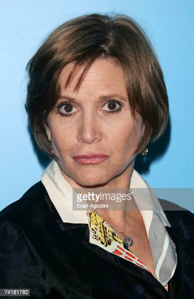 Actress Carrie Fisher attends the FOX 2007 Programming presentation at the Wollman Rink in Central Park on May 17 2007 in New York City