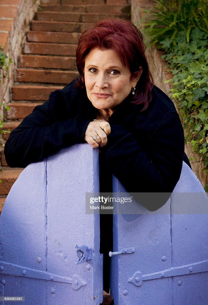 Actress Carrie Fisher is photographed for Los Angeles Times on December 2, 2010 in Los Angeles, California. PUBLISHED IMAGE.