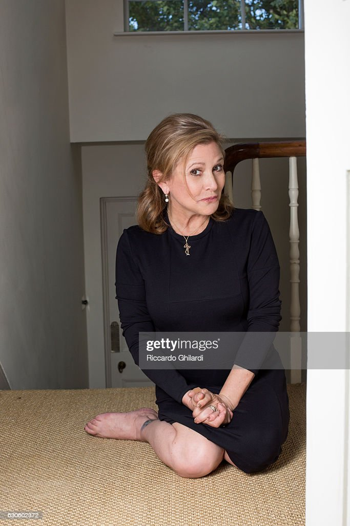 Actress Carrie Fisher is photographed for Self Assignment on September 03, 2013 in Rome, Italy.
