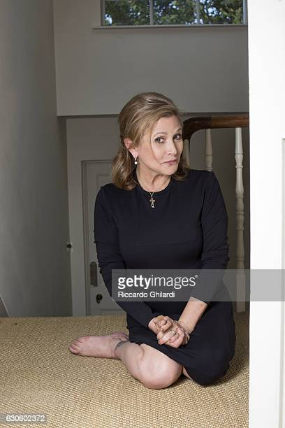 Actress Carrie Fisher is photographed for Self Assignment on September 03 2013 in Rome Italy