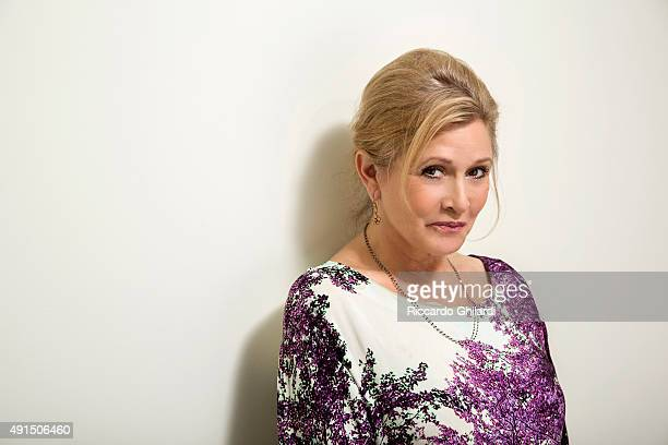 Actress Carrie Fisher is photographed for Self Assignment on August 17 2015 in London England