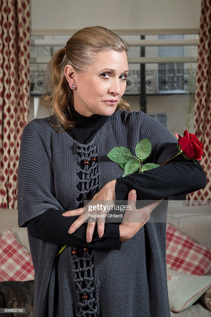Actress Carrie Fisher is photographed for Self Assignment on August, 2015 in London, UK.