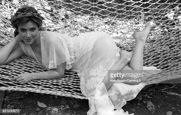 Actress Carrie Fisher is photographed in 1983 at home in Los Angeles California CREDIT MUST READ Ken Regan/Camera 5 via Contour by Getty Images