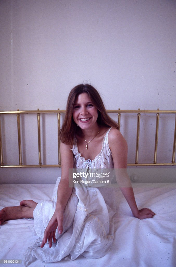 Actress Carrie Fisher is photographed in August 1977 in Los Angeles, California.