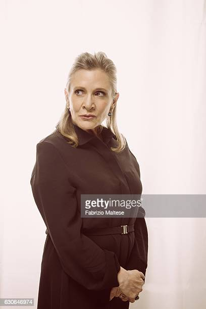 Actress Carrie Fisher photographed for The Hollywood Reporter on May 14, 2016 in Cannes, France.